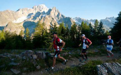 La partenza della TDS da Courmayeur Mont Blanc